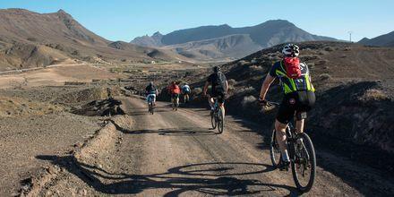 Cykling på Fuerteventura.