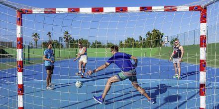 Fotboll på hotell Bahia de Lobos by LABRANDA i Corralejo, Fuerteventura.