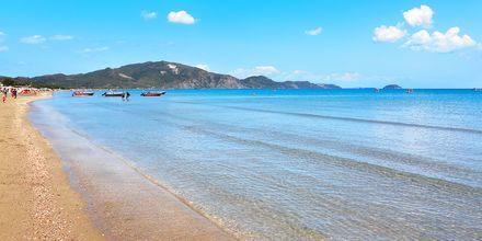 Stranden i Laganas på Zakynthos, Grekland.