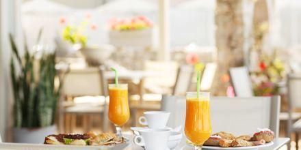 Restaurang på hotell Lamon i Plakias på Kreta, Grekland.