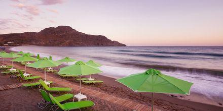 Stranden vid hotell Lamon i Plakias på Kreta, Grekland.