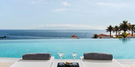 Infinitypoolen på hotell Landmar Playa de la Arena på Teneriffa, Kanarieöarna.