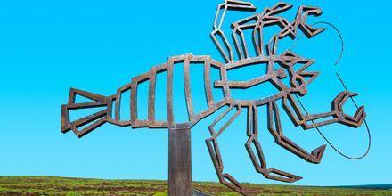 Konstverk av  den lokale konstnären och arkitekten César Manrique, som präglat hela arkitekturen på Lanzarote.