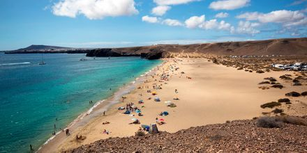 Stranden Playa Mujeres som är en av de fem papagayostränderna.
