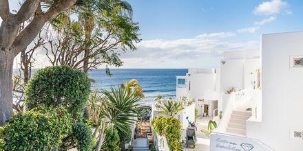 Vackra Puerto del Carmen på Lanzarote, Kanarieöarna.
