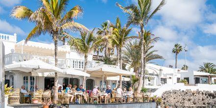 Restaurang i Puerto del Carmen på Lanzarote, Kanarieöarna.