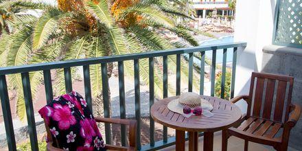 Balkong på Las Marismas på Fuerteventura, Kanarieöarna.