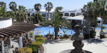 Poolområde på Las Marismas på Fuerteventura, Kanarieöarna.