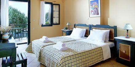 Enrumslägenhet på hotell Ledra i Votsalakia på Samos, Grekland.