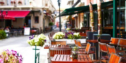 Lefkas stad, Grekland.