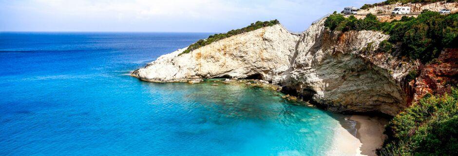 Porto Katsiki på Lefkas, Grekland.