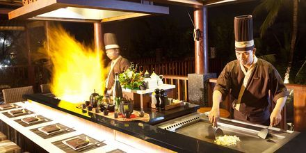 Restaurang Yuyake Teppanyaki på hotell Legian Beach i Kuta på Bali.