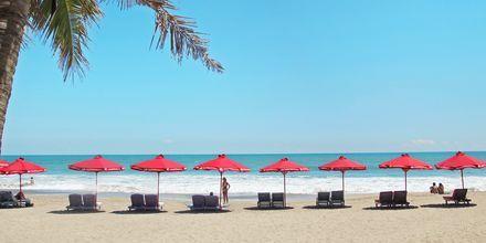 Stranden vid hotell Legian Beach i Kuta på Bali.