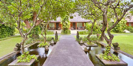 Bungalow på hotell Legian Beach i Kuta på Bali.