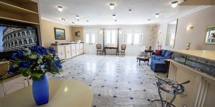 Reception på hotell Lenox på Samos i Grekland.
