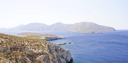 Klippor vid Leros norra delar.