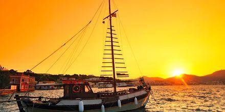 Bildskön solnedgång på Leros.