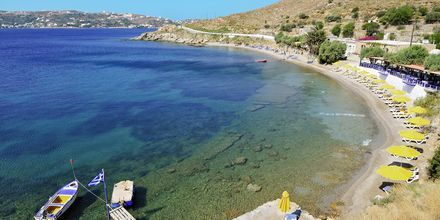 Strand på Leros, Grekland.