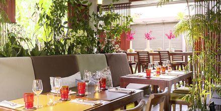 Restaurang på Let's Sea Hua Hin Al Fresco Resort i Thailand.