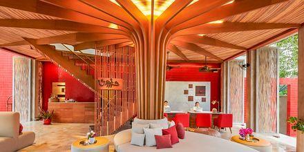 Lobby på hotell Let's Sea Hua Hin Al Fresco Resort i Thailand.