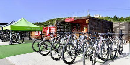 Cykeluthyrning på Levante Beach Resort på Rhodos, Grekland.
