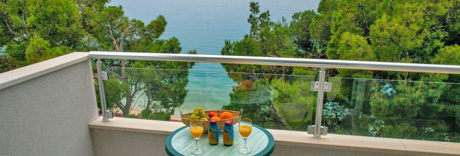 Enrumslägenhet på hotell Libertas i Markarska, Kroatien.