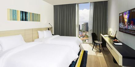 Deluxerum på hotell Liberty Central Saigon i Saigon, Vietnam.