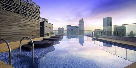 Takpoolen på hotell Liberty Central Saigon i Saigon, Vietnam.