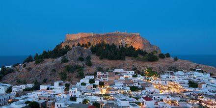Lindos på Rhodos, Grekland.