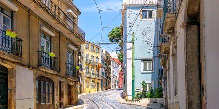 Alfama, gamla stan i Lissabon.