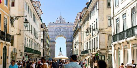 Rua Augusta, en av huvudgatorna i Lissabon.