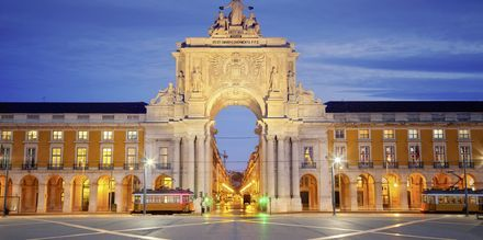 Mysiga Lissabon i Portugal.