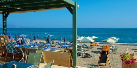 Snackbar på hotell Lissos i Platanias på Kreta, Grekland.