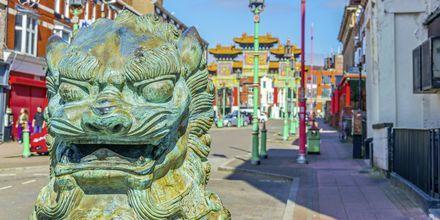 Chinatown i Liverpool, England.