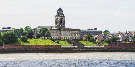 Liverpool ligger vid floden Mersey.
