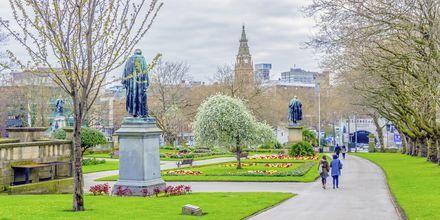 Saint John Garden i Liverpool, England.
