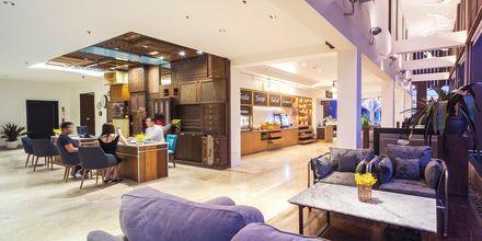 Lobby på hotell Loligo Resort Hua Hin i Thailand.