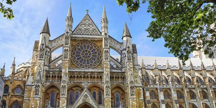 Den kungliga kyrkan Westminster Abbey i London är nästan tusen år gammal.