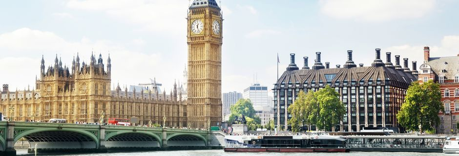 Big Ben och West Minister Abby i London.