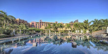 Poolområde på Lopesan Baobab Resort i Meloneras, Gran Canaria.