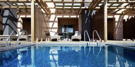 Dubbelrum med privat pool på hotell Lopesan Baobab Resort i Meloneras, Gran Canaria.