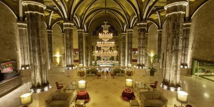 Lobby på Lopesan Villa del Conde Resort & Thalasso i Meloneras, Gran Canaria.