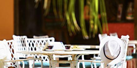 Café på hotell Los Alisios på Los Cristianos, Teneriffa.