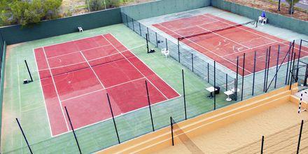 Tennis på hotell Los Alisios på Los Cristianos, Teneriffa.