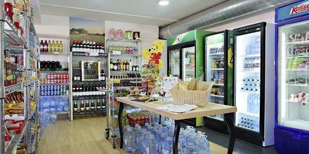 Supermarket på hotell Los Alisios på Los Cristianos, Teneriffa.