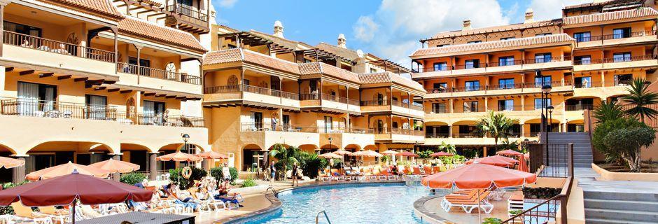 Poolområde på hotell Los Alisios på Los Cristianos, Teneriffa.
