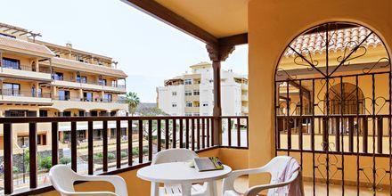Tvårumslägenhet på hotell Los Alisios i Los Cristianos, Teneriffa.