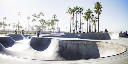 Skatepark vid Venice Beach, Los Angeles.