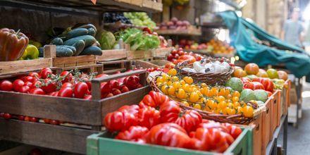 Fruktmarknad i Los Cristianos på Teneriffa.