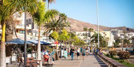 Strandpromenaden i Los Cristianos på Teneriffa.